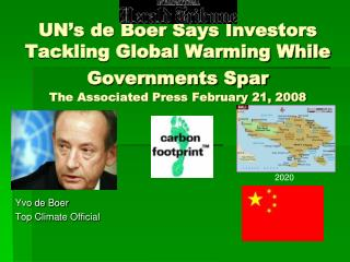 Yvo de Boer Top Climate Official