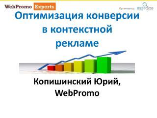 Оптимизация конверсии в контекстной рекламе Копишинский Юрий , WebPromo