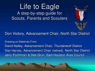 Life to Eagle A step-by-step guide for Scouts, Parents and Scouters