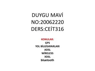 DUYGU MAVİ NO:20062220 DERS:CEİT316