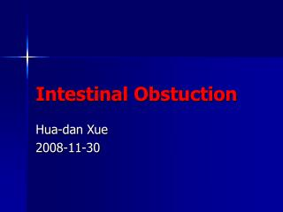 Intestinal Obstuction