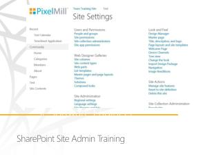 SharePoint Site Admin Training