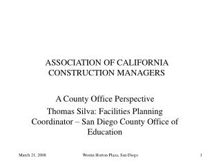 ASSOCIATION OF CALIFORNIA CONSTRUCTION MANAGERS