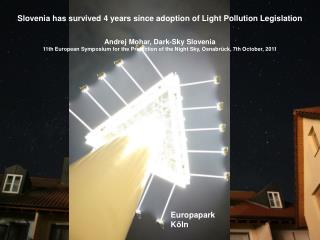 Slovenia has survived 4 years since adoption of Light Pollution Legislation