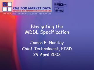 Navigating the MDDL Specification
