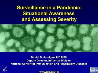 Daniel B. Jernigan, MD MPH Deputy Director, Influenza Division