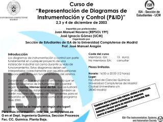 """Curso de """"Representación de Diagramas de Instrumentación y Control (P&ID)"""""""