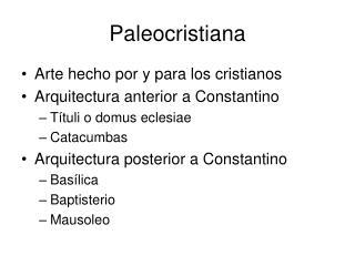 Paleocristiana