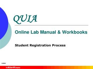 QUIA Online Lab Manual & Workbooks