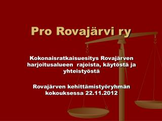 Pro Rovajärvi ry