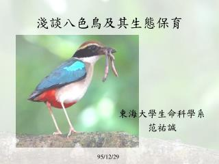 淺談八色鳥及其生態保育