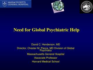 Need for Global Psychiatric Help