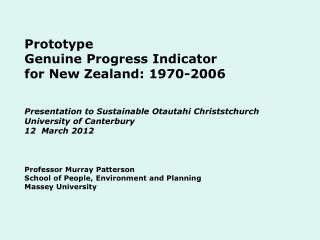 NZ GPI Research Team