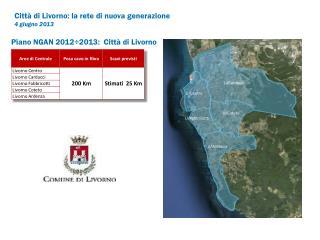 Piano NGAN 2012÷2013 : Città di Livorno