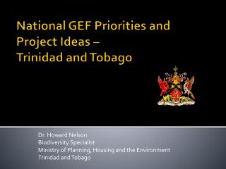 National GEF Priorities and Project Ideas –  Trinidad and Tobago