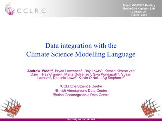 Data integration with the Climate Science Modelling Language