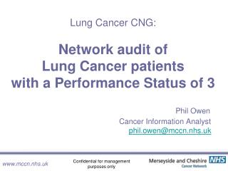 Lung Cancer Patients with PS=3:
