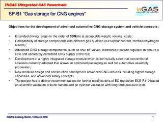 Objectives for the development of advanced automotive CNG storage system and vehicle concepts :