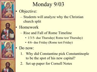 Monday 9/03