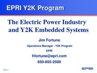 EPRI Y2K Program