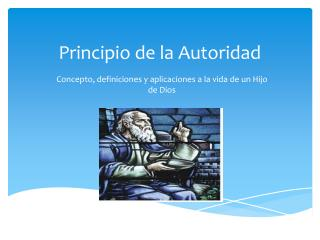 Principio de la Autoridad