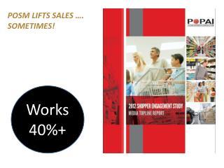 POSM lifts sales …. SOMETIMES!