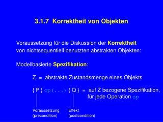 3.1.7 Korrektheit von Objekten