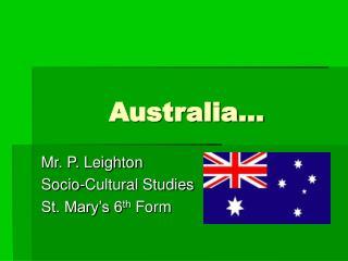 Australia…