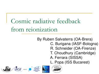 Cosmic radiative feedback from reionization