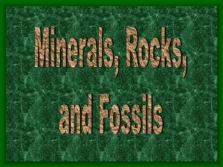 Minerals, Rocks, and Fossils
