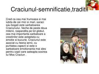Craciunul-semnificatie,traditii