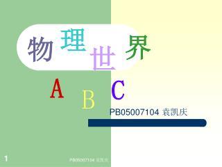PB05007104 袁凯庆