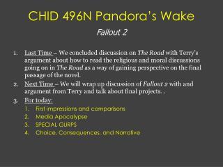 CHID 496N Pandora's Wake