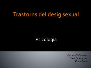 Trastorns del desig sexual