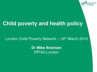 Child poverty and health policy