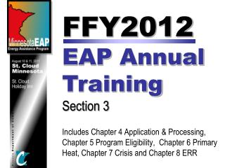 FFY2012 EAP Annual Training Section 3