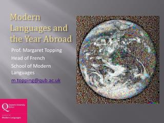 Modern Languages and the Year Abroad
