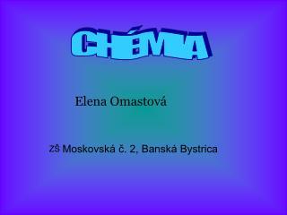 Elena Omastová