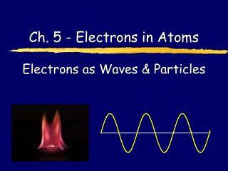 Electrons as Waves & Particles