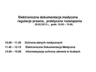 Elektroniczna dokumentacja medyczna regulacje prawne, praktyczne rozwiązania