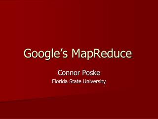 Google's MapReduce