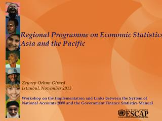 Regional Programme on Economic Statistics Asia and the Pacific