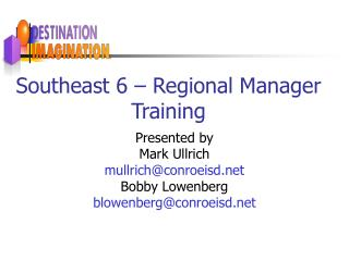 Southeast 6 – Regional Manager Training