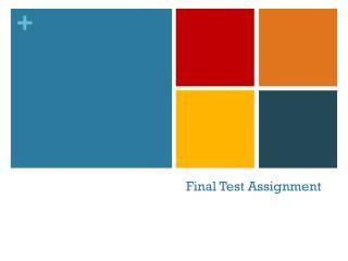Final Test Assignment