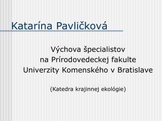 Katarína Pavličková