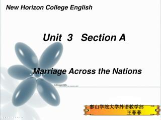Unit 3 Section A