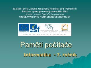 Informatika - 7. ročník