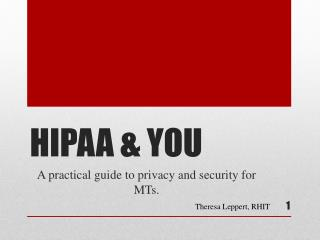 HIPAA & YOU