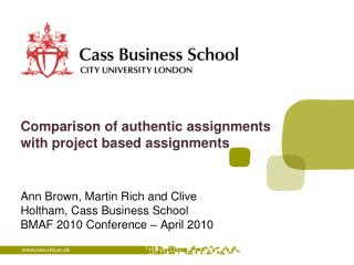 Comparison of authentic assignments with project based assignments