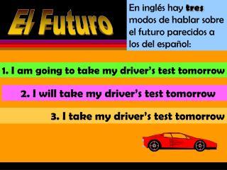 En inglés hay tres modos de hablar sobre el futuro parecidos a los del español: